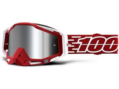 100% Racecraft Plus, gustavia/Lens: inj silver flash mir - MX Brille