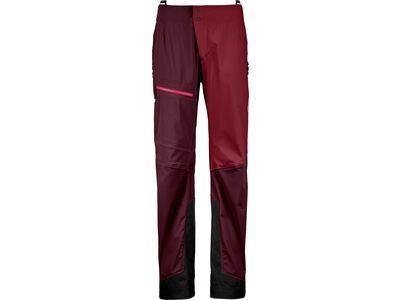 Ortovox 3L Merino Naked Sheep Ortler Pants W, dark wine - Skihose