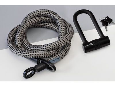 Tex-Lock Tex-Lock Eyelet L 160 cm inkl. X-Lock, grau - Fahrradschloss