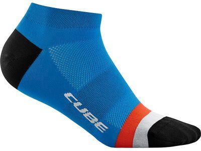 Cube Socke Low Cut Teamline, blue´n´red´n´grey - Radsocken