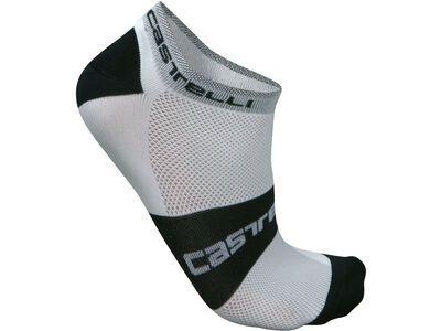 Castelli Lowboy Sock, white/black - Radsocken