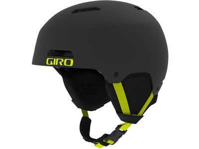 Giro Ledge, black/citron - Skihelm