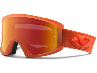 Giro Blok MTB Amber Scarlet glowing red