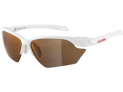 Alpina Twist Five S HR Q-Lite Mirror Red white matt
