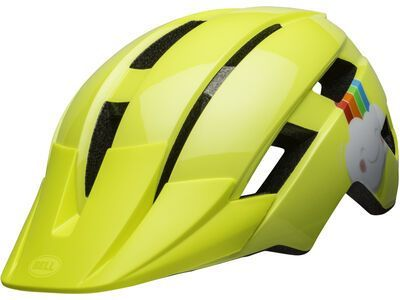 Bell Sidetrack II Toddler, yellow rainbow - Fahrradhelm