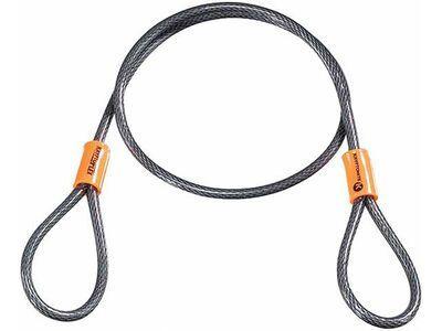 Kryptonite KryptoFlex 525 Double Loop Cable - 0,5/76 cm, gelb/schwarz - Sicherungskabel