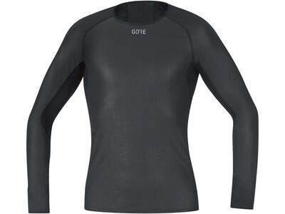 Gore Wear M Gore Windstopper Base Layer Shirt Langarm, black - Unterhemd