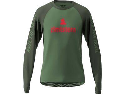 Zimtstern PureFlowz Shirt LS, green/night/red - Radtrikot