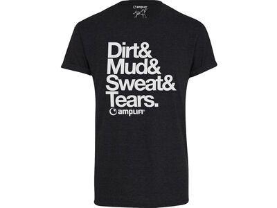 amplifi Claim Tee Dirt, black - T-Shirt