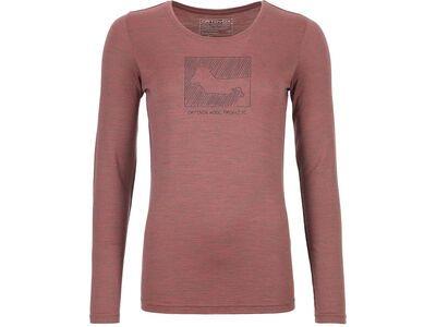 Ortovox 185 Merino Contrast Long Sleeve W, blush blend - Unterhemd