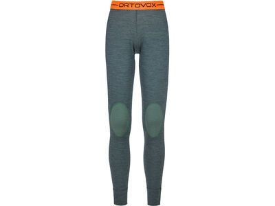 Ortovox 185 Merino Rock'n'Wool Long Pants W, green forest blend - Unterhose