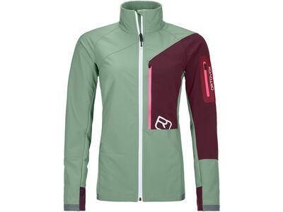 Ortovox Merino Airsolation Berrino Jacket W, green isar - Softshelljacke