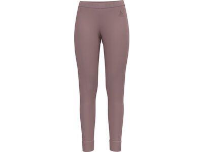 Odlo Women's Natural 100% Merino Warm Baselayer Pants, woodrose