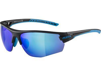 Alpina Tri-Scray 2.0 HR Mirror Blue black matt-cyan