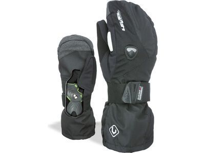 Level Fly Mitt, black - Snowboardhandschuhe