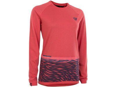 ION Tee LS Seek Wms, pink isback - Radtrikot