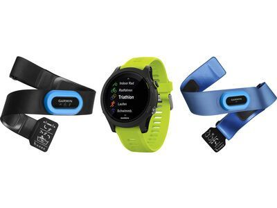 Garmin Forerunner 935 Triathlon-Bundle, schwarz/gelb - Triathlonuhr
