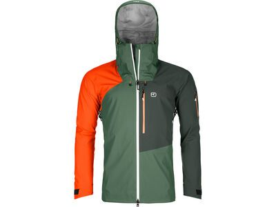 Ortovox 3L Merino Naked Sheep Ortler Jacket M, green forest - Skijacke