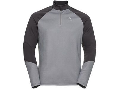Odlo Men's Planches 1/2 Zip Midlayer, graphite grey/grey melange - Fleecepullover