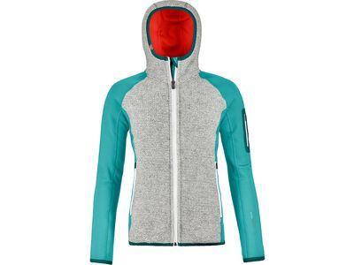 Ortovox Merino Fleece Plus Classic Knit Hoody W ice waterfall