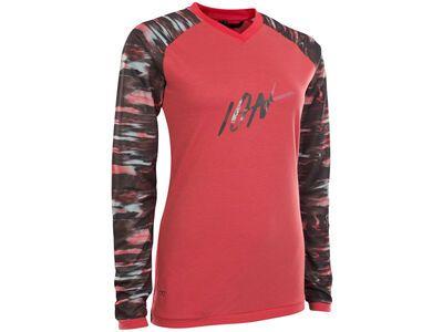 ION Tee LS Scrub AMP Wms, pink isback - Radtrikot