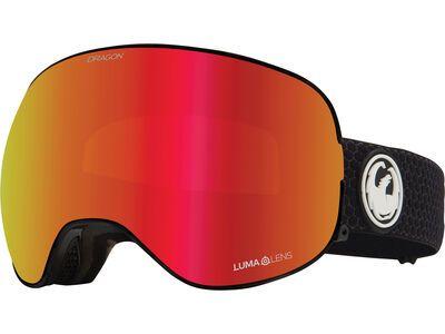 Dragon X2 inkl. WS, split/Lens: lumalens red ion - Skibrille
