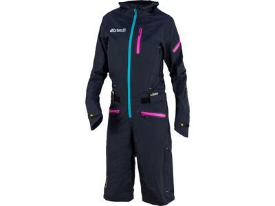 dirtlej DirtSuit Pro Edition Ladies Cut, black azure / türkis - Rad Einteiler