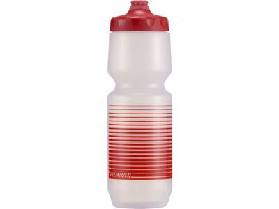 Specialized Purist Fixy 0,76 L clear/red linear stripe