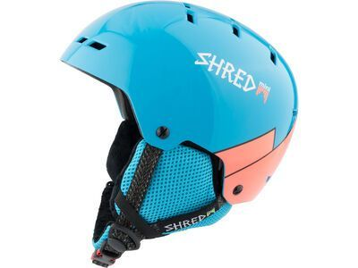 Shred Bumper Mini, wee blue rust - Skihelm
