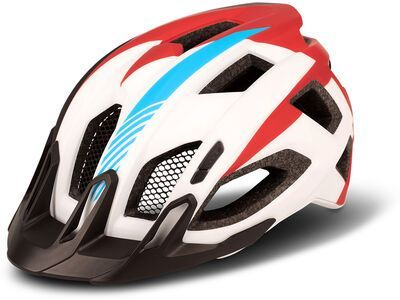 Cube Helm Quest Teamline, white´n´blue´n´red - Fahrradhelm