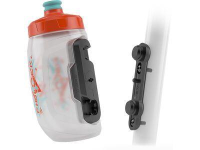 Fidlock Twist Bottle 450 Kids + Bike Base transparent white