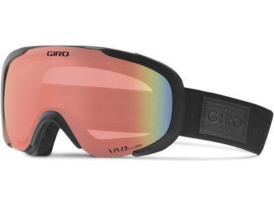 *** 2. Wahl *** Giro Field, black quilted/Lens: vivid infrared - Skibrille |
