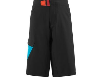 Cube Junior Shorts, black´n´blue´n´white - Radhose