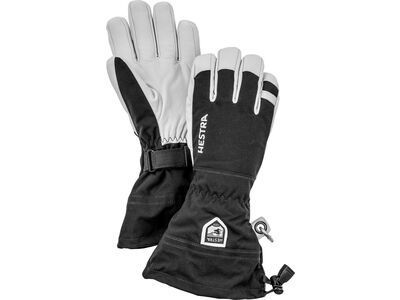 Hestra Army Leather Heli Ski 5 Finger, schwarz - Skihandschuhe