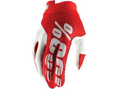 100% iTrack Glove red/white