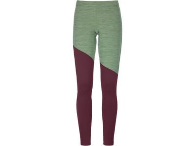 Ortovox Merino Fleece Light Long Pants W, green forest blend - Unterhose
