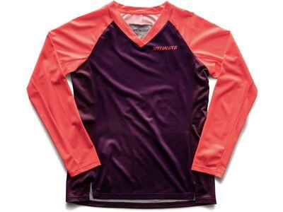 Specialized Women's Andorra Jersey LS, berry/acid lava mirror - Radtrikot