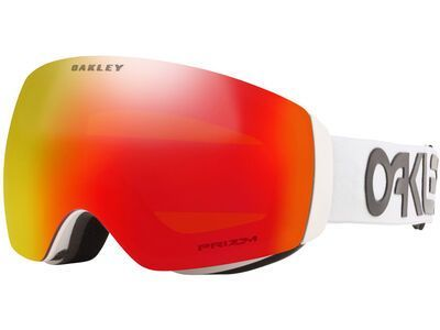 Oakley Flight Deck XM Prizm Factory Pilot, white/Lens: torch iridium - Skibrille