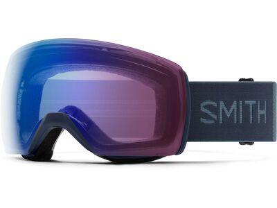 Smith Skyline XL, french navy/Lens: cp photochromic rose flash - Skibrille