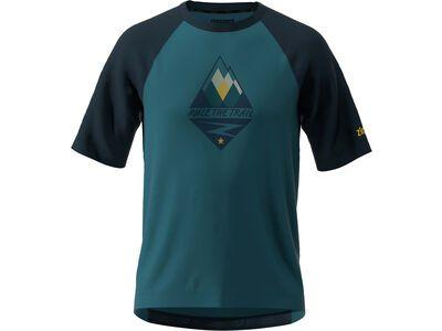 Zimtstern PureFlowz Shirt SS, steel/navy/mimosa - Radtrikot