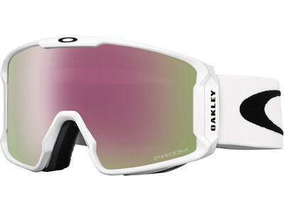 Oakley Line Miner Prizm, matte white/Lens: hi pink iridium - Skibrille