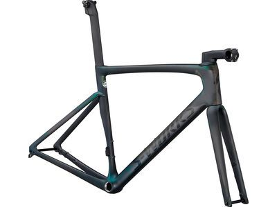 Specialized S-Works Tarmac SL7 Frameset carbon/chameleon silver green color run 2021