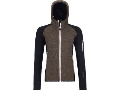 Ortovox Merino Fleece Plus Classic Knit Hoody W, black raven - Fleecehoody