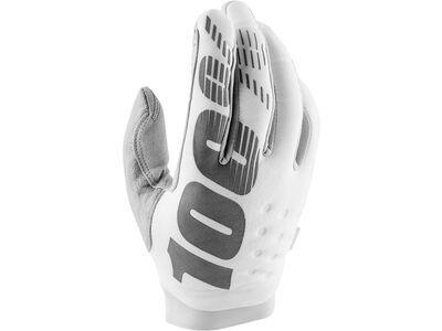 100% Brisker Cold Weather Glove, white/silver - Fahrradhandschuhe