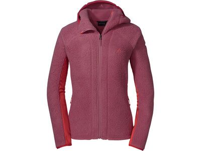 Schöffel Fleece Hoody Trifide L, red moscato - Fleecehoody