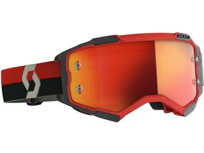 Scott Fury Goggle Orange Chrome Works red