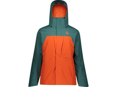 Scott Ultimate Dryo 10 Men's Jacket, jasper green/orange pumpkin - Skijacke