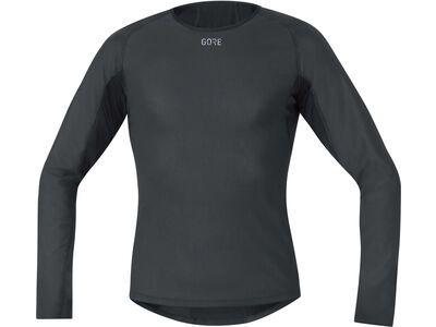 Gore Wear M Gore Windstopper Base Layer Thermo Shirt Langarm, black - Unterhemd