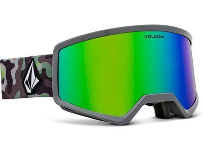 Volcom Stoney, camo lime/Lens: green chrome - Skibrille