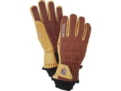 Hestra Henrik Leather Pro Model 5 Finger, braun/tan - Skihandschuhe